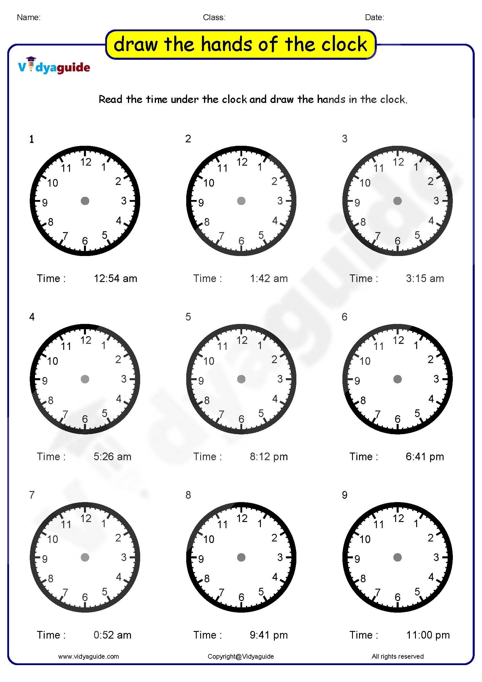 Clock Puzzle For Kids 01