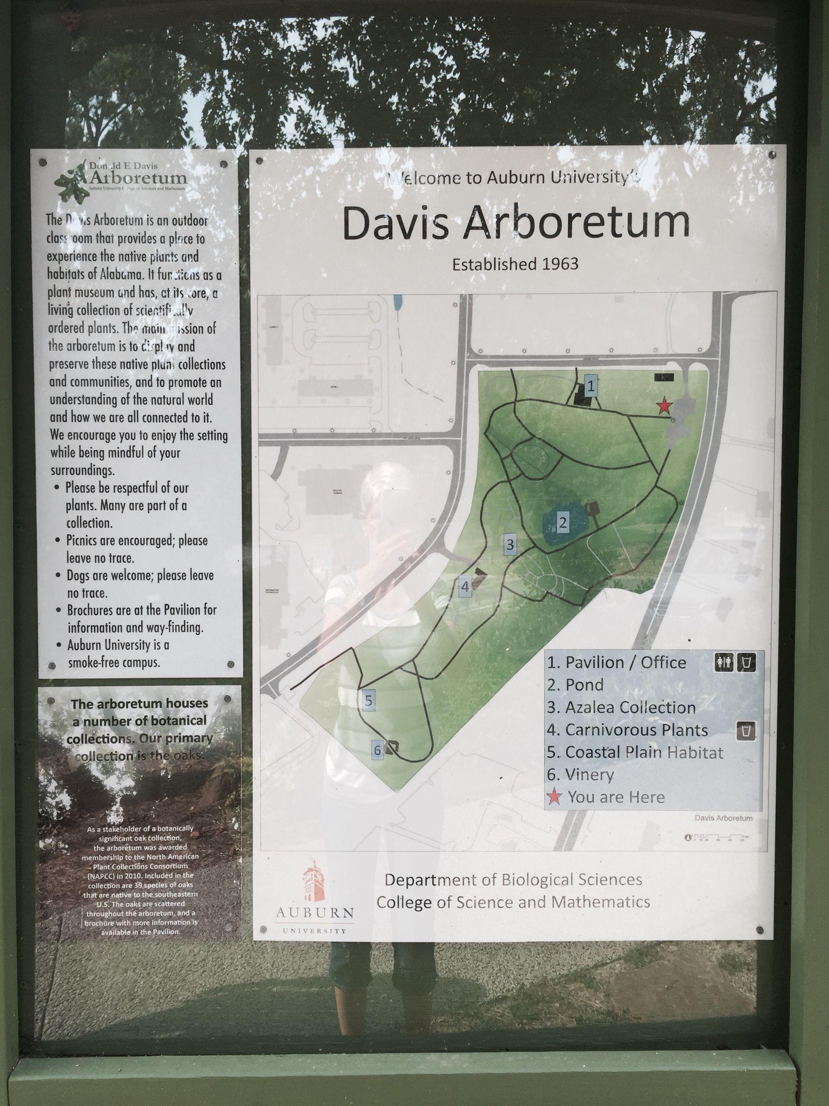 on davis arboretum map