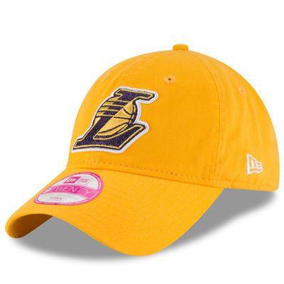 New Era Los Angeles Lakers Women S Gold Team Glisten 9twenty Adjustable Hat Los Angeles Lakers Adjustable Hat Lakers Hat