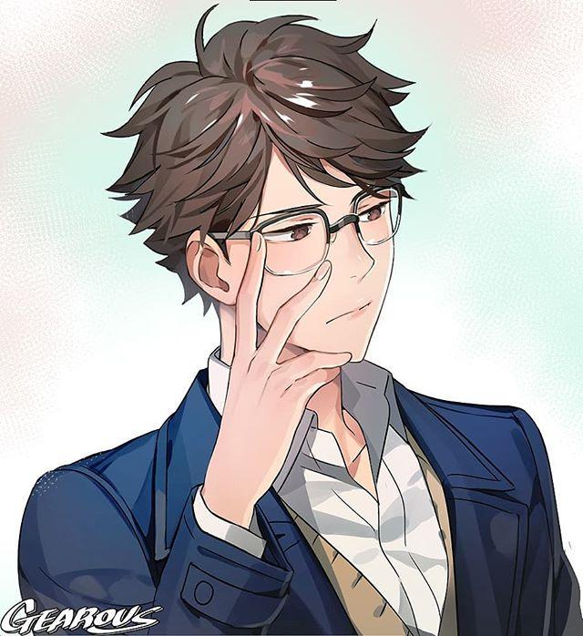 "Photo of Gearous on Instagram: ""Oikawa #haikyuu #anime #animeboy #gearous #fanart"""