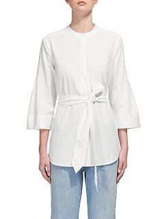 Rosalind Pin Tuck Poplin Shirt