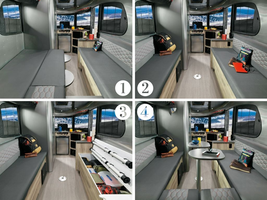 2017 Airstream Basecamp Lounge Bed Configurations With Images