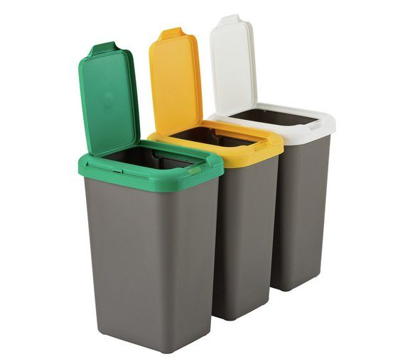 Buy HOME Set Of 3 Recycling Bins At Argos.co.uk   Your Online