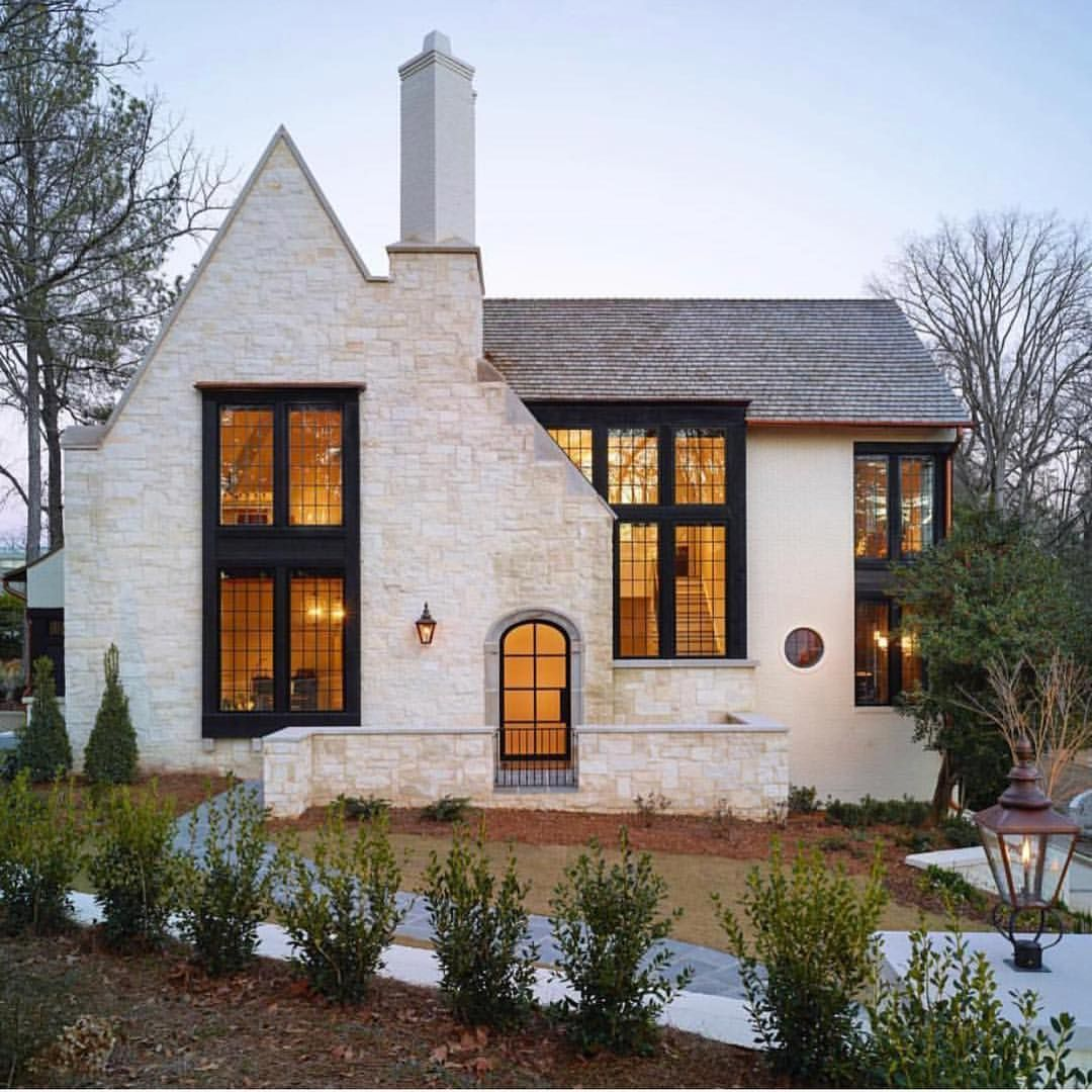 Current exterior inspiration --stone and steel frame | House ...