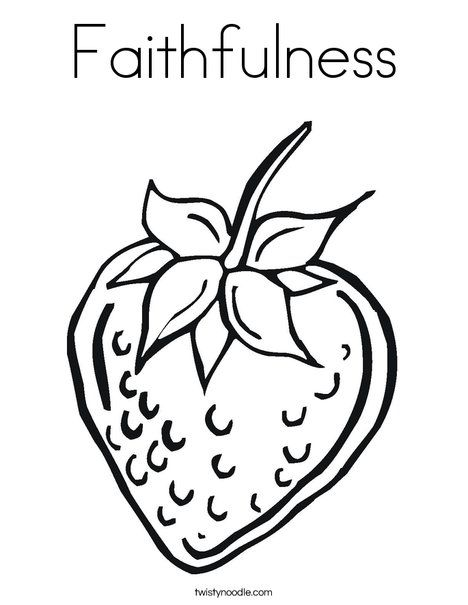 Strawberry Coloring Page   Bible study & color sheets for preschool ...