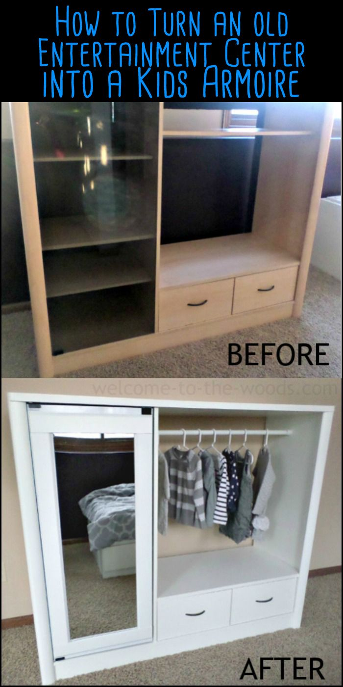 Hereu0027s A Nice Idea For The Kids   An Old Entertainment Center Turned Into A  Dress