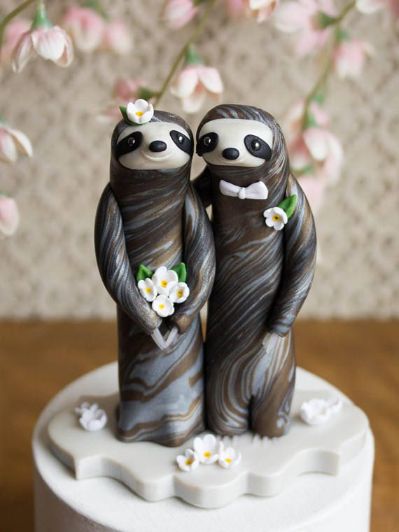 Sloth Wedding Cake Topper By Bonjour Poupette Hand Washing And Wraps