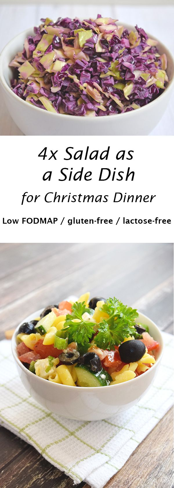 Side Salad - 4x Inspiration for the Christmas Dinner (low FODMAP ...