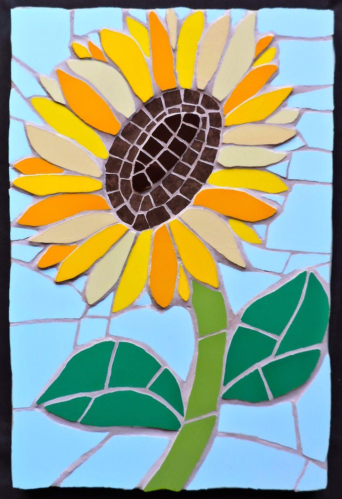 Mosaic Sunflowers Mosaic Art Sunflower Mosaic Mosaic Flowers