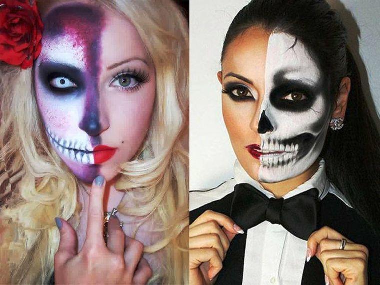 Maquillaje para hombre y mujer para Halloween | Halloween, Para ...