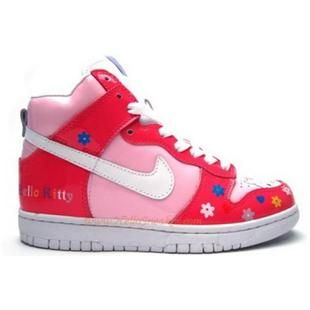 Nike Dunk High Pink/White/Blue/Red Hello Kitty Shoes For Women