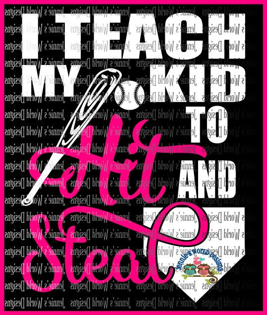 I Teach My Kid To Hit And Steal Svg Dxf Png Jpg Baseball Etsy Baseball Paper Cutout Teaching