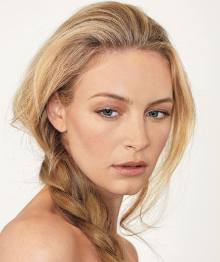 Try an updated version of the side braid. It's unstructured and beachy, yet still so chic.