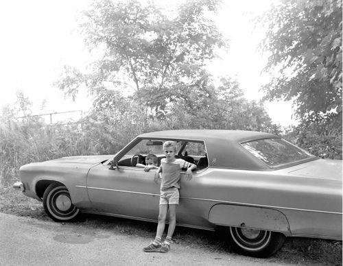 Two Boys with Automobile, 1983-84  Christine Osinski