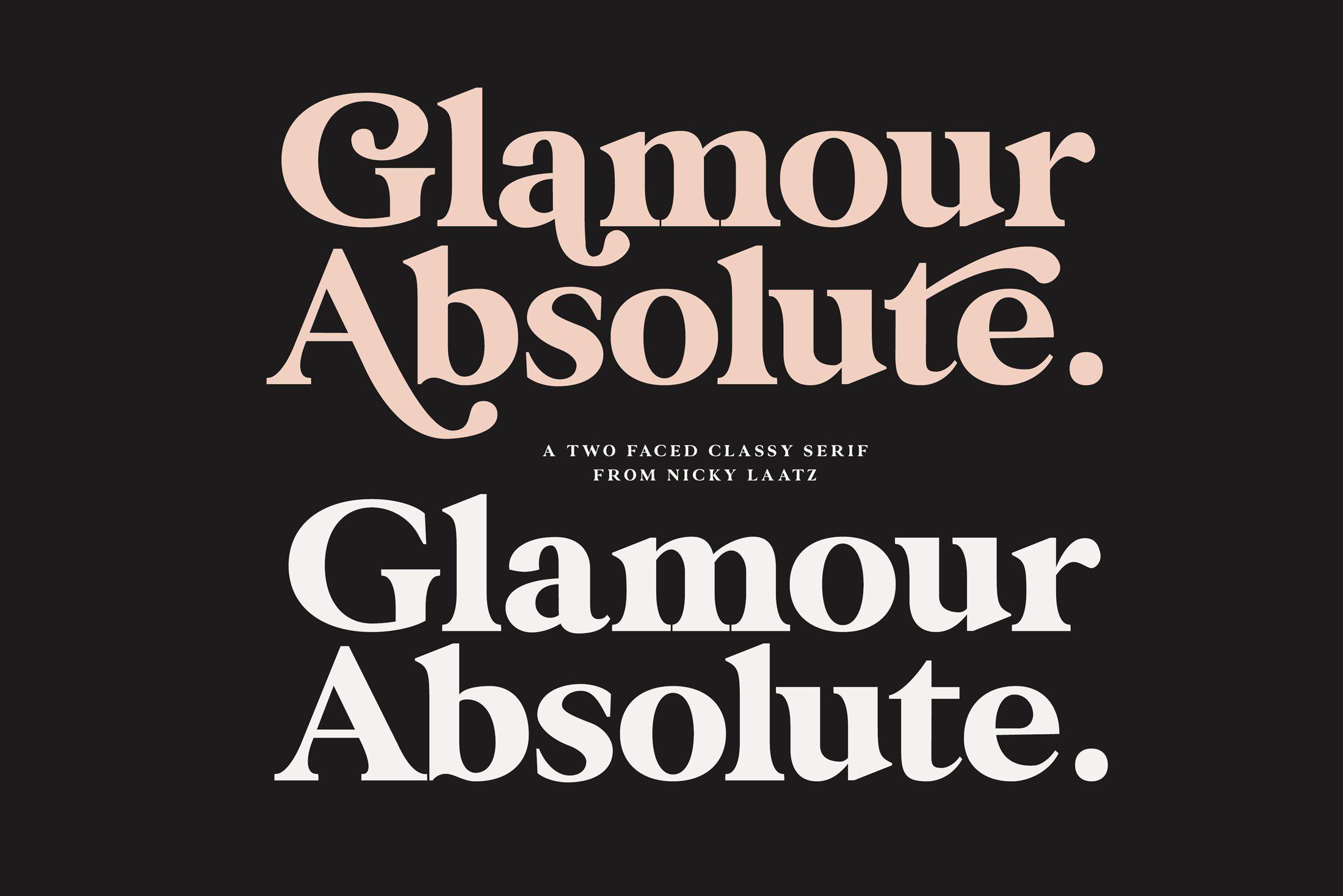 Glamour Absolute Modern Vintage Font In 2020 Vintage Fonts Lettering Glamour