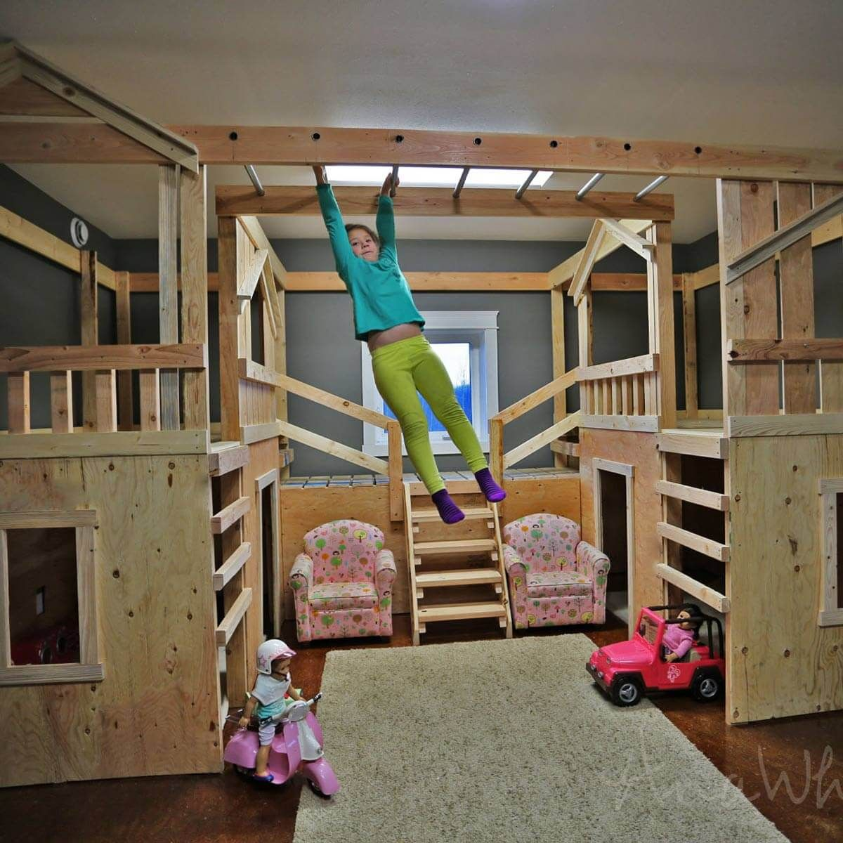 Indoor jungle gym bed year of clean water