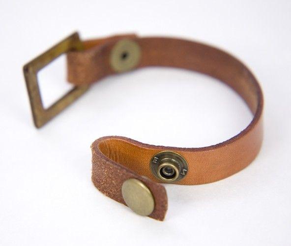 Loop End Leather Strap Bracelet Blank Focal Not Included