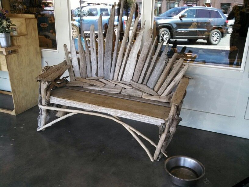 Driftwood bench a la game of thrones chair got game