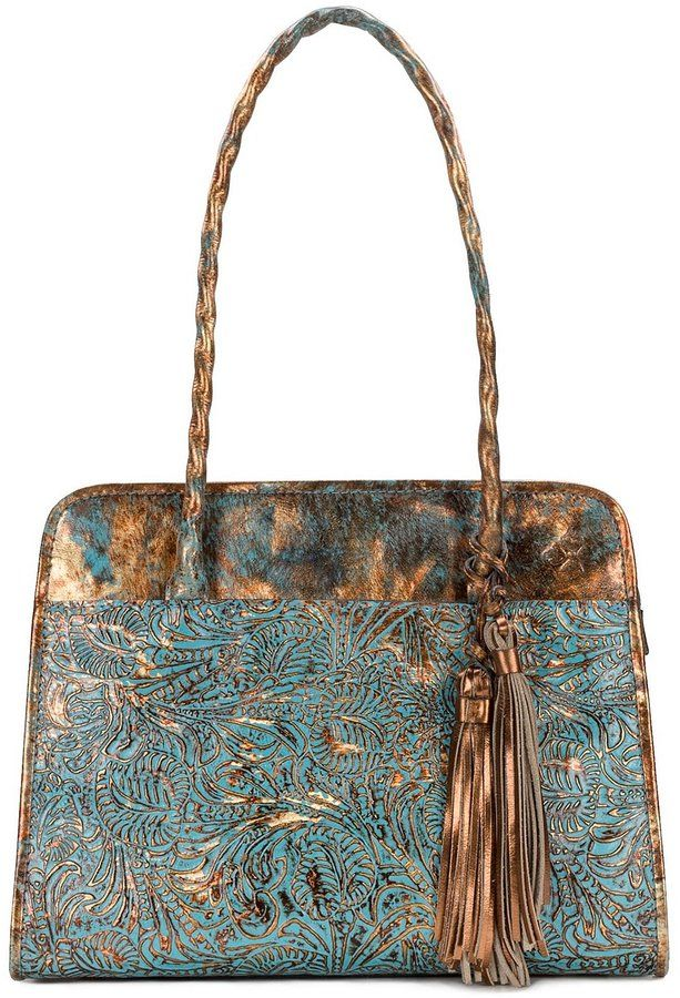 00b84c08fecd Patricia Nash Turquoise Forest Collection Paris Satchel