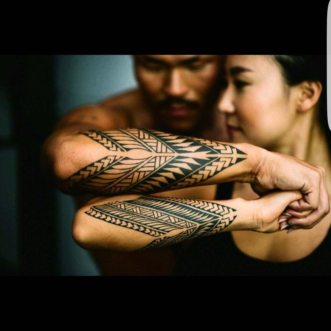 forearm tattoos for couples tribal style | tattoos ...