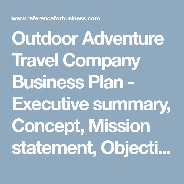 adventure tourism business plan pdf