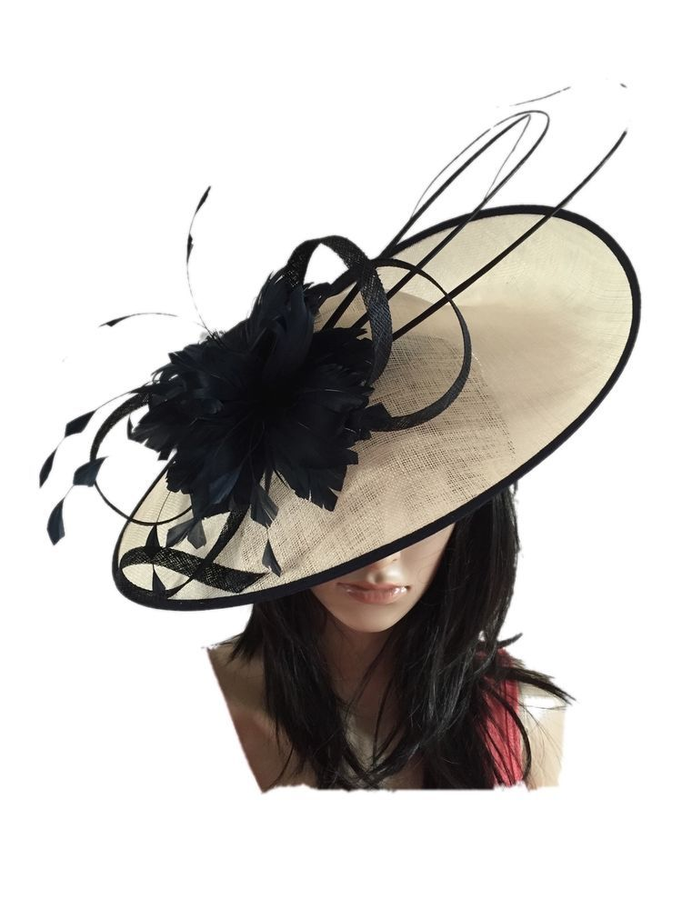 NIGEL RAYMENT IVORY WEDDING ASCOT  FASCINATOR DISC HAT MOTHER OF THE BRIDE