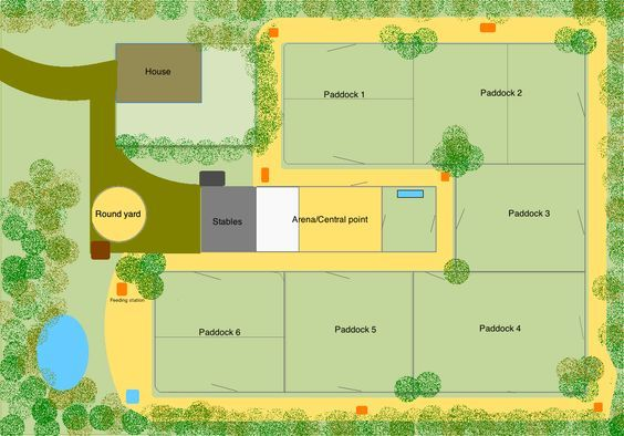 Efficient horse farm layout google search horse barn for Barn design software