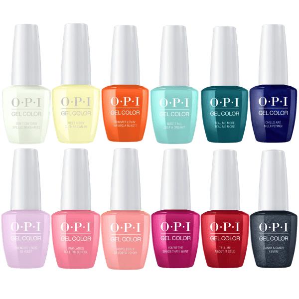 Opi Gelcolor Collection Sets Opi Gel Opi Gelcolor Gel Color