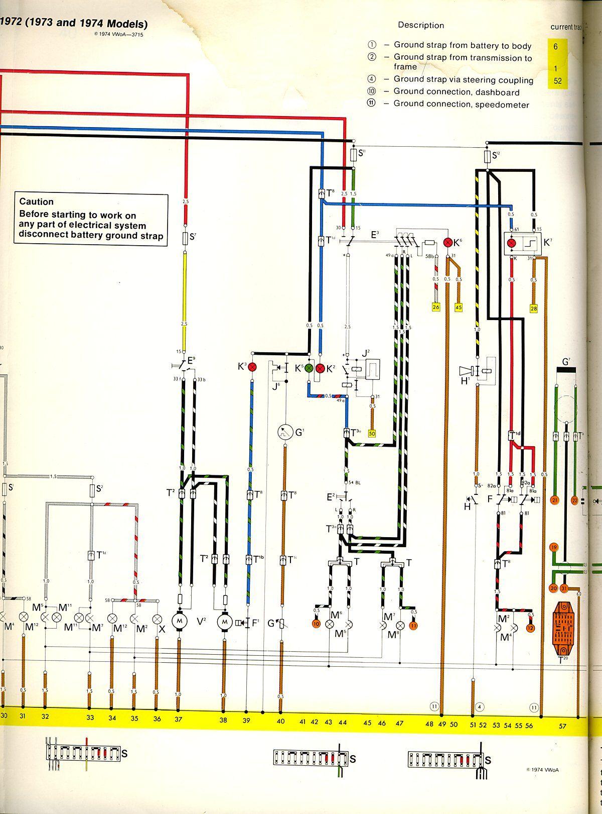 nice bus wiring cable diagram pin en vw bug  pin en vw bug