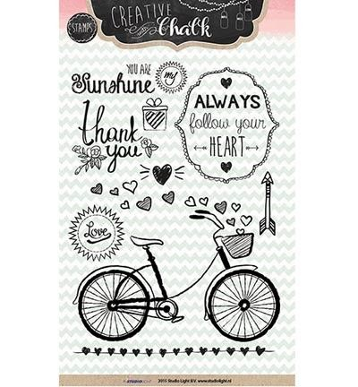 Clear stamp Creative with Chalk, no. 98, Alway follow your heart