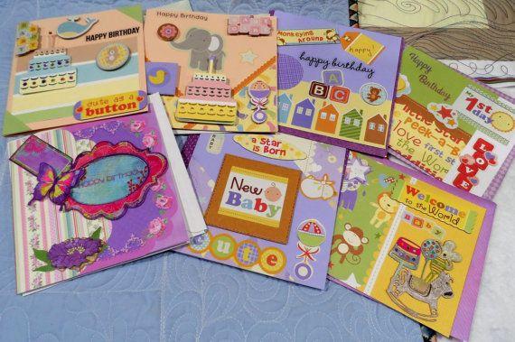 Cards Set Bulk Buy Birthday Handmade By Fiberartplus