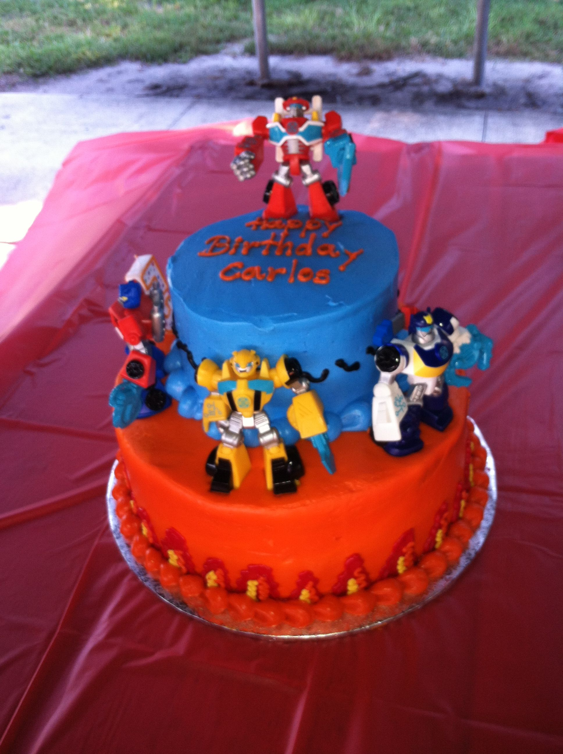 Phenomenal Rescue Bots Birthday Party Rescue Bots Birthday Cake With Images Funny Birthday Cards Online Alyptdamsfinfo