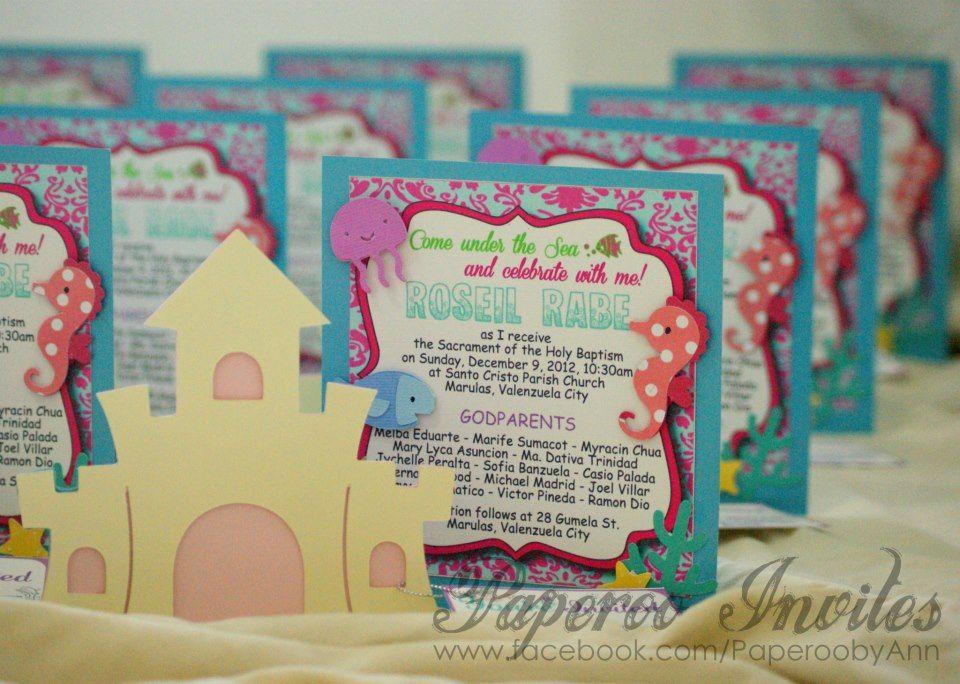 elegant under the sea invitations | Paperoo Invites: Under The Sea ...