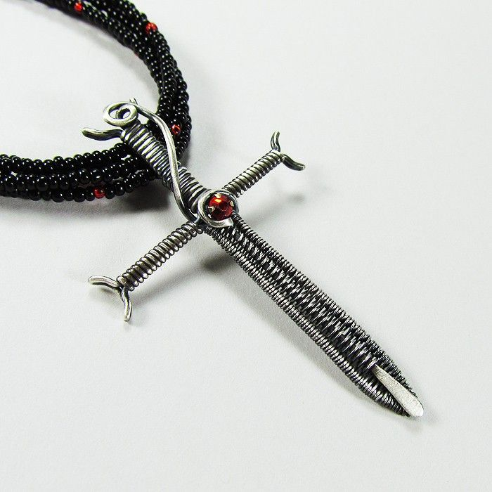 Sword Pendant - Wirework Tutorial. $5.00, via Etsy. | Jewelry ...
