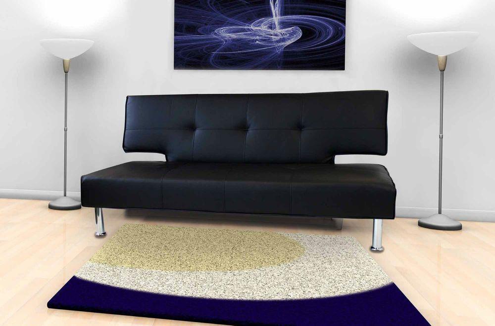 faux leather sofa bed black contemporary furniture italian