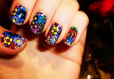 Fancy - Stained glass inspired nails