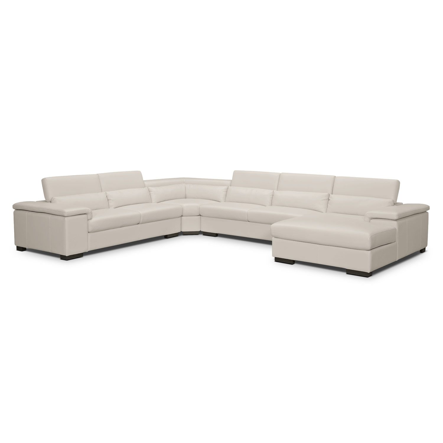 Ventana Leather 4 Pc Sectional Value City Furniture