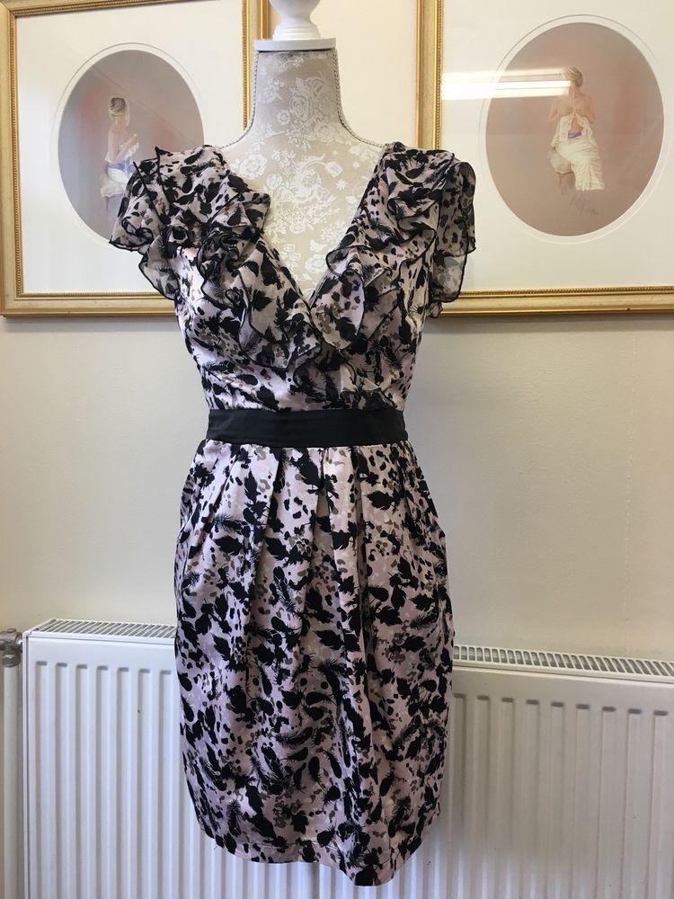 Pink And Black Lipsy Dress Size 10 Brand New Fashion Clothing
