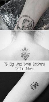 Photo of 75 grandes et petites idées de tatouage d'éléphant – Artisanat plus brillant #sunflowertattoosSpine …