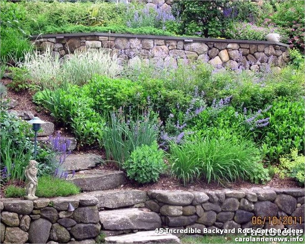 45 Incredible Backyard Rock Garden Ideas Gardening Has At All Times Been A Private Challenge For Eac In 2020 Sloped Garden Landscaping With Rocks Garden Stairs