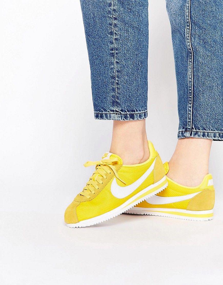 c23cb74b2e0dd Nike+Maize+Yellow+Classic+Cortez+Trainers   Tendy   Pinterest ...