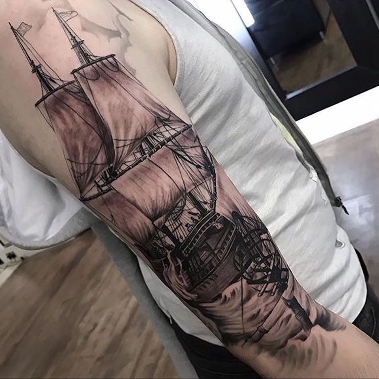 Photo of 95+ Best Pirate Ship Tattoo Designs & Meanings – Masts …