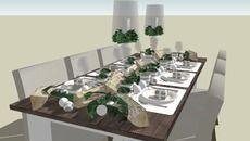 Modelo 3D de Christmas Dinner Table