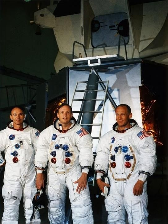 Apollo 11 astronauts Mike Collins, Neil Armstrong and Buzz ...