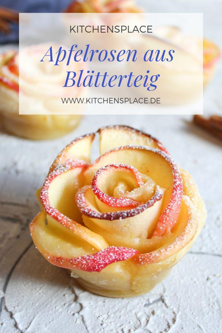 Apfelrosen aus Blätterteig | kitchensplace