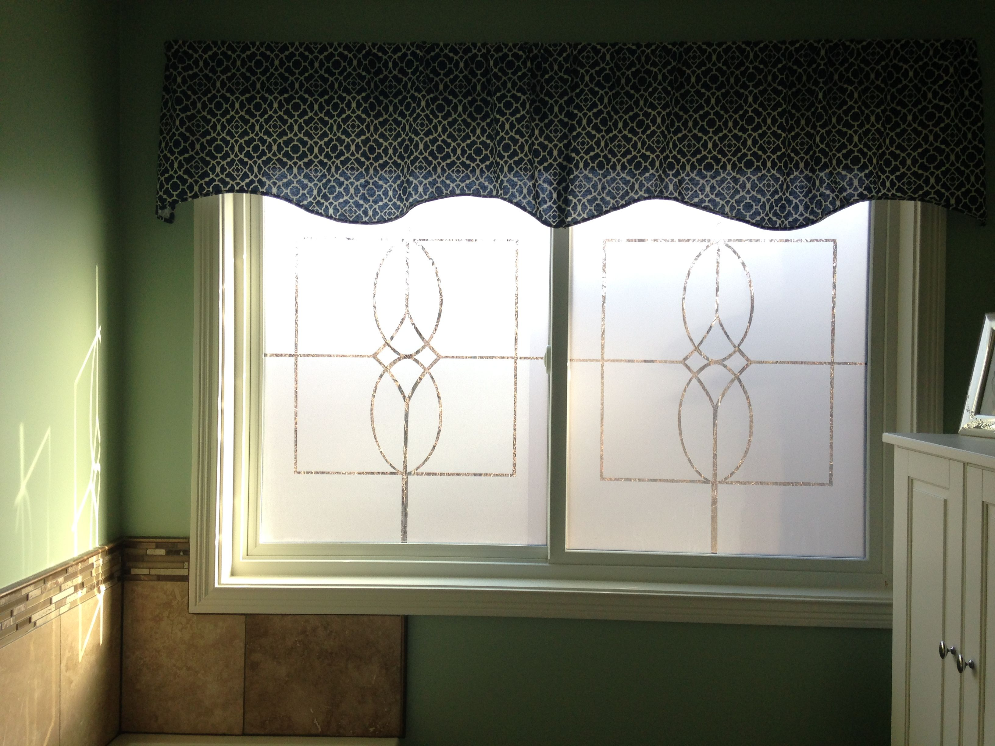 Diy Custom Window Frosting All You Need Is An Idea Some Window Film And An Exacto Knife Custom Windows Home Home Decor