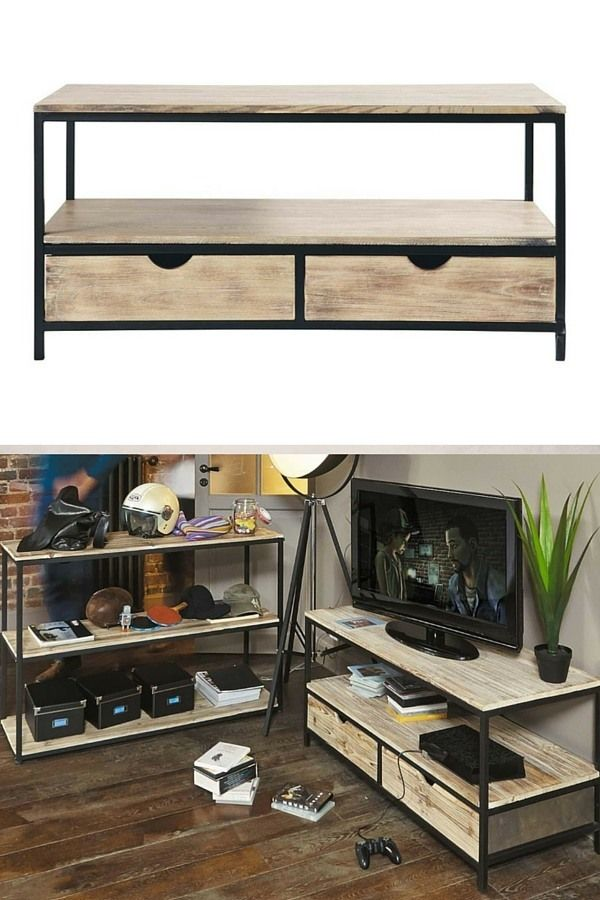 meuble tv industriel pas cher le top10 home. Black Bedroom Furniture Sets. Home Design Ideas