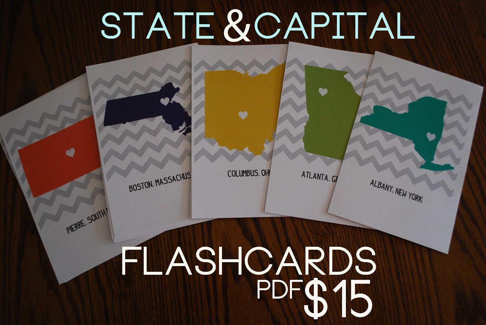 State And Capital Printable Flashcards