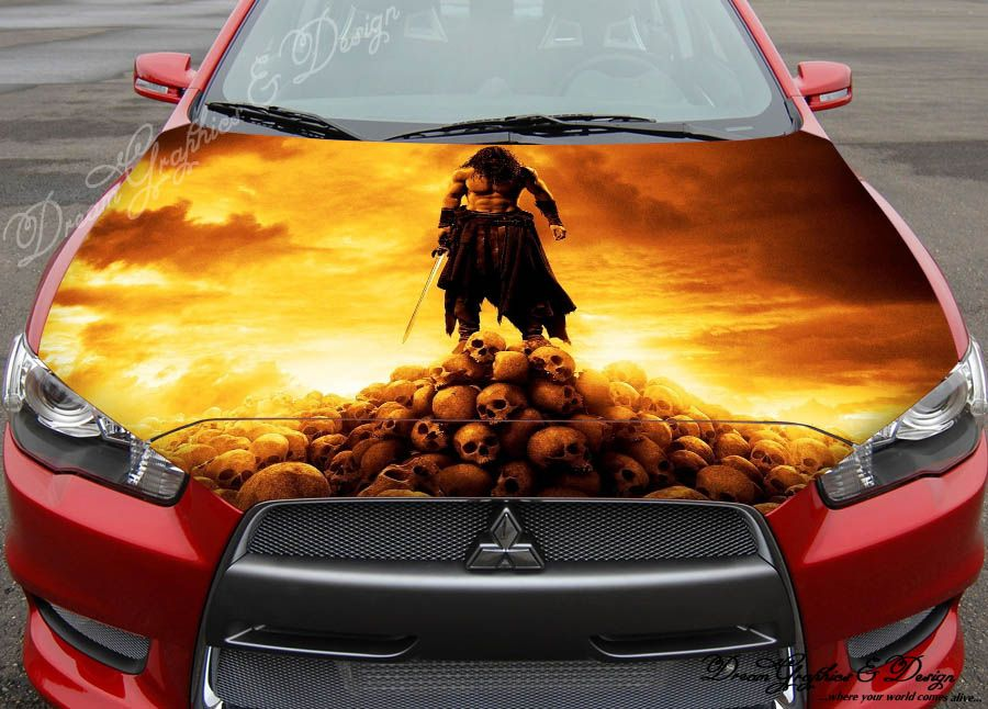 Sticker Decal Full Color Vinyl Hood Fit Any Car Anime