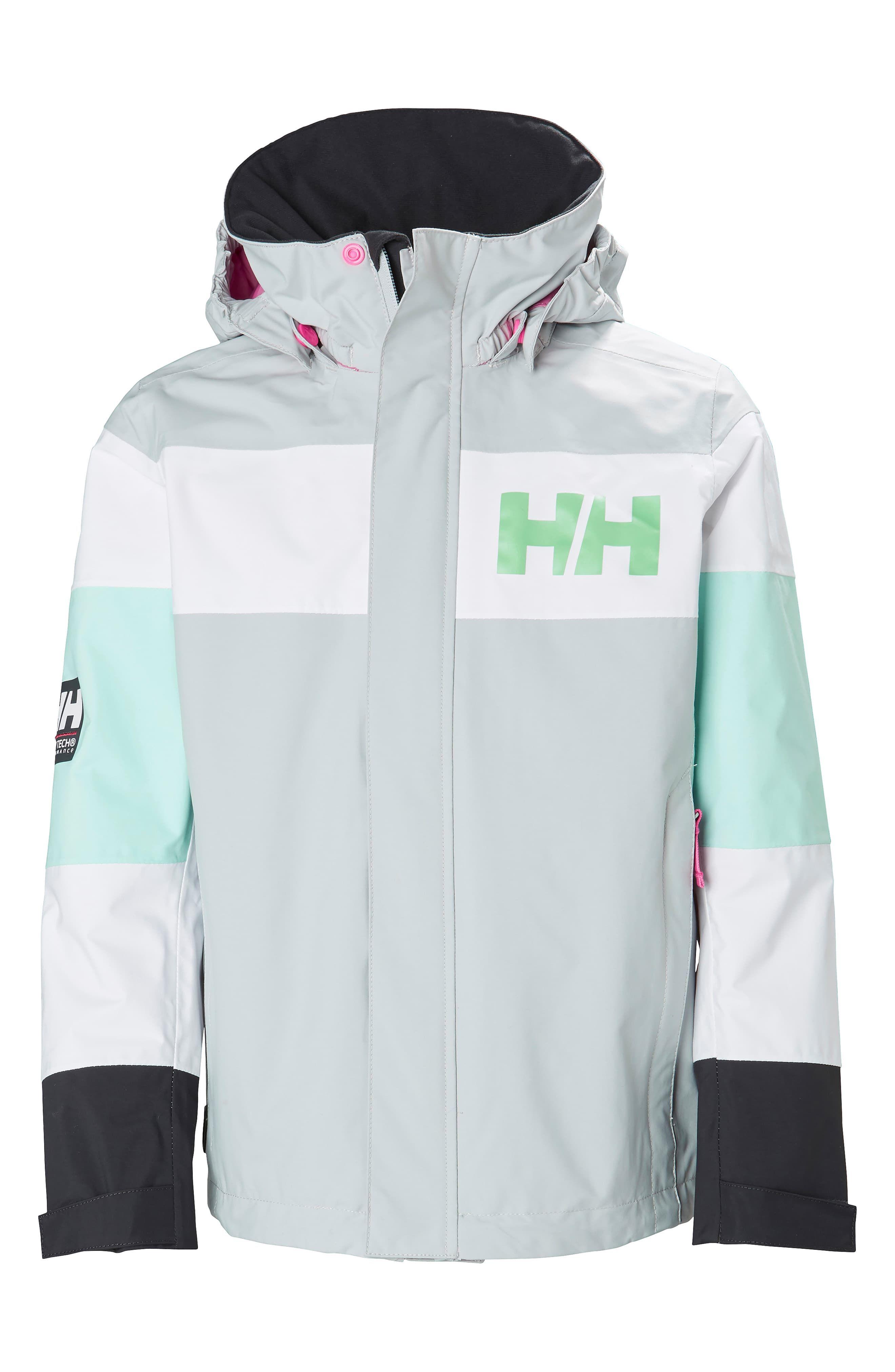 28af396f Boy's Helly Hansen Salt Port Waterproof Jacket, Size 10 - Grey ...
